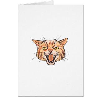 Wildcat Mascot Greeting Card