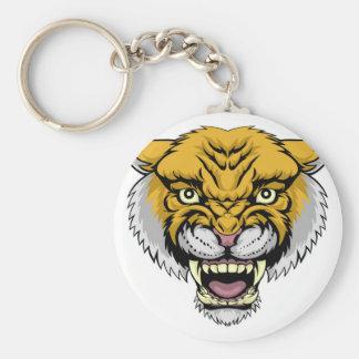 Wildcat Mountain Lion Basic Round Button Key Ring