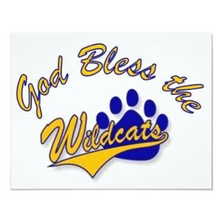 wildcat pin 11 cm x 14 cm invitation card