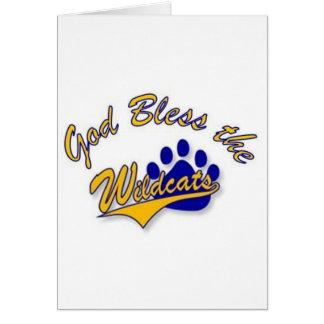 wildcat pin greeting card