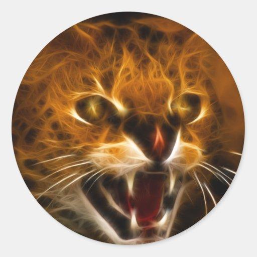 Wildcat Round Sticker