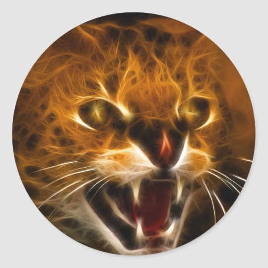 Wildcat Round Sticker