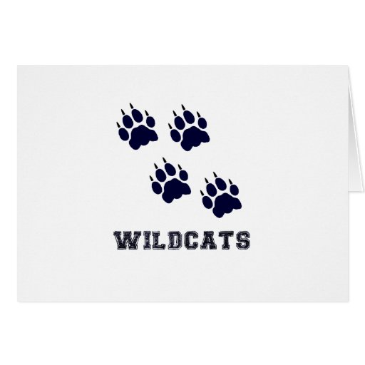 Wildcat Tracks Card
