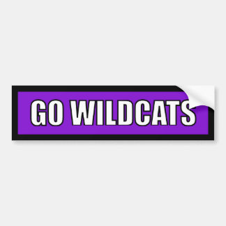 Wildcats - Black Purple White Bumper Stickers