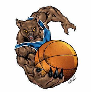 Wildcats Bobcats Basketball Blue, White Stripe Acrylic Cut Outs