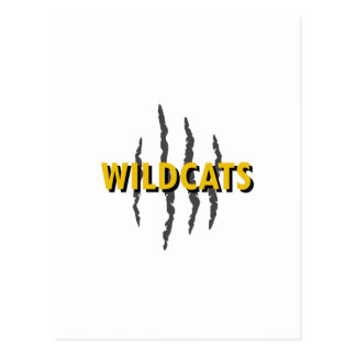 WILDCATS CLAW MARKS POSTCARD