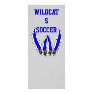 Wildcats Claw Ripping Through Design - Blue Personalized Announcement