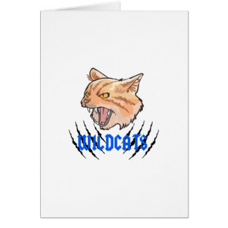 Wildcats Claw Tears Greeting Card