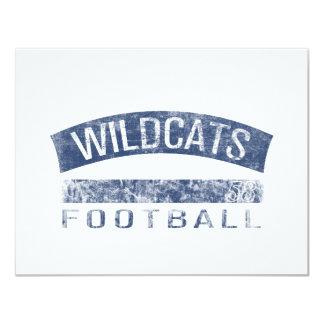 WILDCATS Football - #58 (blue) 11 Cm X 14 Cm Invitation Card