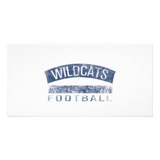 WILDCATS Football - 58 blue Custom Photo Card