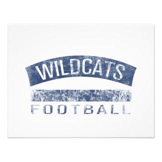 WILDCATS Football - #58 (blue) Invitations