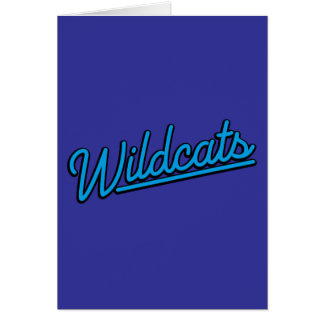 Wildcats in cyan cards