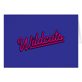 Wildcats in magenta greeting card
