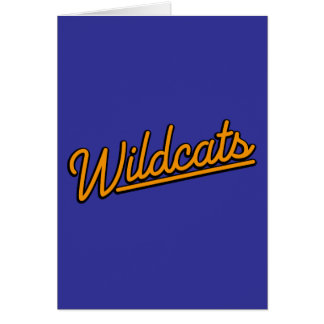 Wildcats in orange greeting card