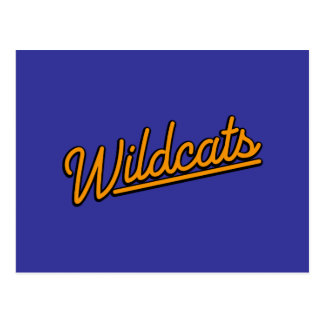 Wildcats in orange postcard