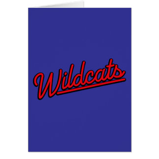 Wildcats in red greeting card