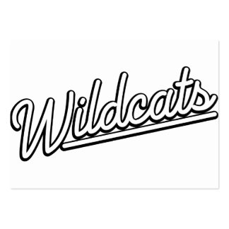 Wildcats in white business cards