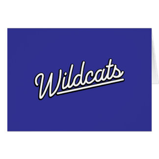 Wildcats in white greeting card