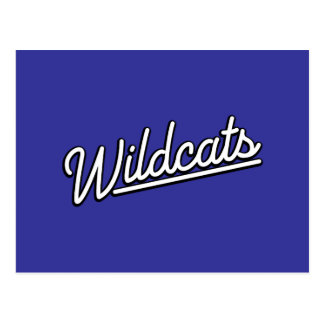 Wildcats in white postcard