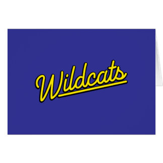 Wildcats in yellow greeting cards