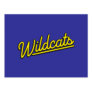 Wildcats in yellow post card