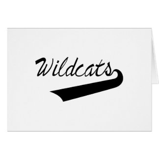 Wildcats Lettering Greeting Card
