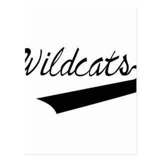 Wildcats Lettering Postcard