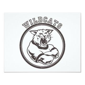 Wildcats Mascot 11 Cm X 14 Cm Invitation Card