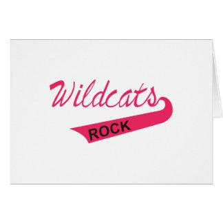 Wildcats Rock Greeting Card