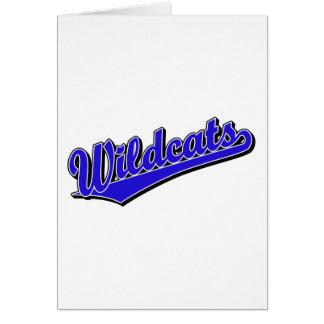 Wildcats script logo in blue greeting card