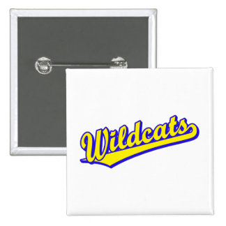 Wildcats script logo in gold and blue 15 cm square badge