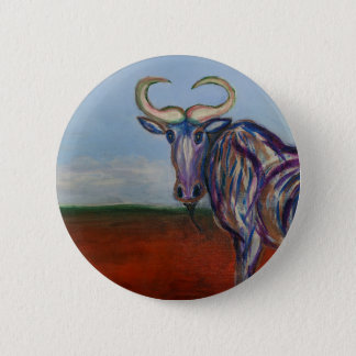 Wildebeest 6 Cm Round Badge