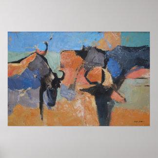 Wildebeest - Art print