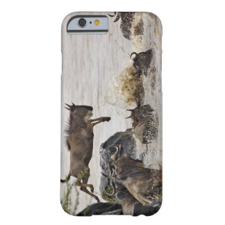 Wildebeest jumping into Mara River during Barely There iPhone 6 Case