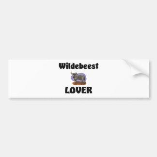 Wildebeest Lover Bumper Sticker