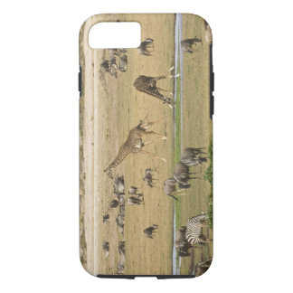 Wildebeests, Zebras and Giraffes gather at a iPhone 8/7 Case
