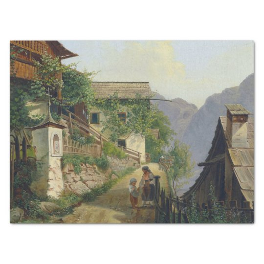 Wilderness Alps Mountain Vine Houses Tissue Paper