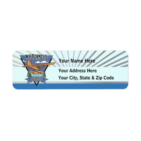 Wilderness Seaplane Adventure Alaska Return Address Label