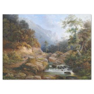 Wilderness Stream Forest Hiking Path Tissue Paper