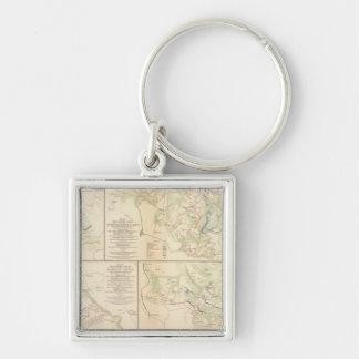 Wilderness, Va Spotsylvania CH Todd's Tavern Silver-Colored Square Key Ring