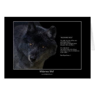 WILDERNESS WOLF Wildlife Art & Poem Note Card