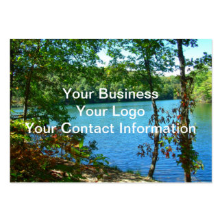 Wilderness Wooded Lake Pack Of Chubby Business Cards