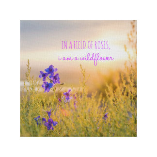 "Wildflower 12"" x 12"", 1.5"", Single Canvas Print"