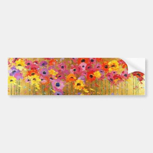 Wildflower Art Bumper Sticker