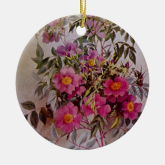 Wildflower Botanical Ceramic Ornament | Two Sides