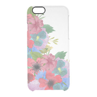 Wildflower Bouquet Watercolor Transparent Clear iPhone 6/6S Case