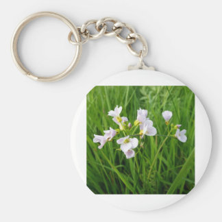 Wildflower delight basic round button key ring