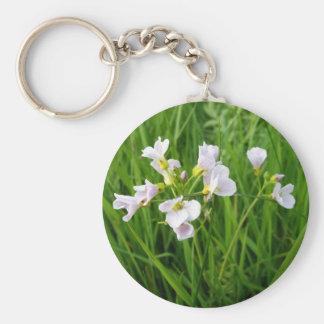 Wildflower delight basic round button key ring