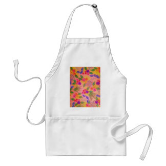 WILDFLOWER FANCY 2 - Cheerful Pink Lovely Floral Standard Apron