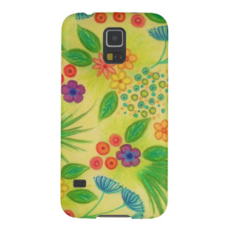 WILDFLOWER FANCY 3 - Cheerful Fresh Green Lovely Galaxy S5 Cover
